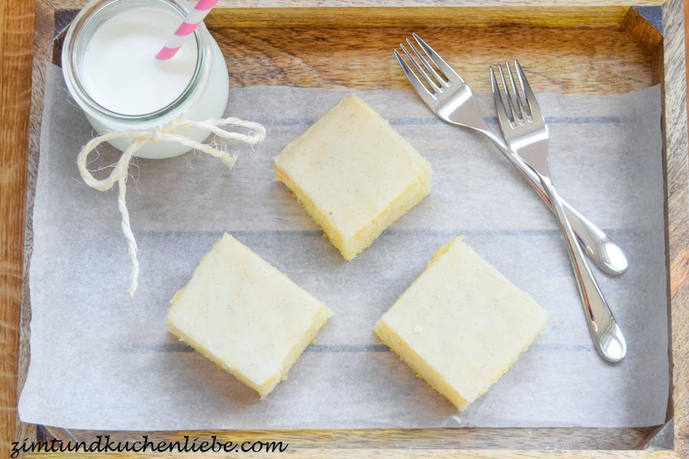 Vanille-Kuchenschnitten