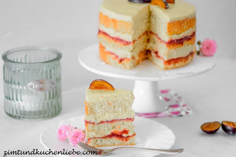 Zwetschgen-Torte mit Zimtbiskuit