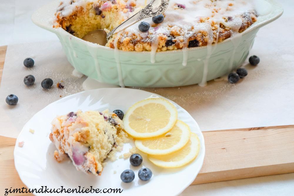 Buttermilch-Blaubeeren Kuchen