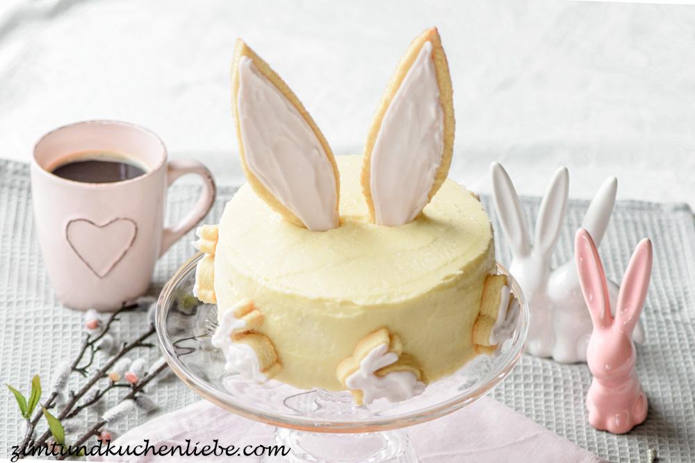 Oster-Torte mit Kokos & Pfirsich
