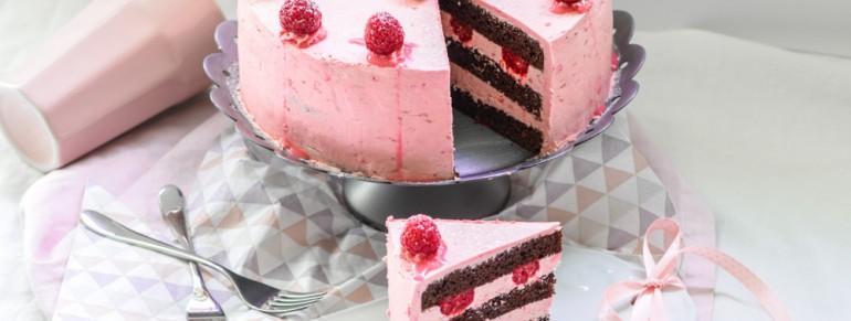 Schoko Himbeer Buttercreme Torte
