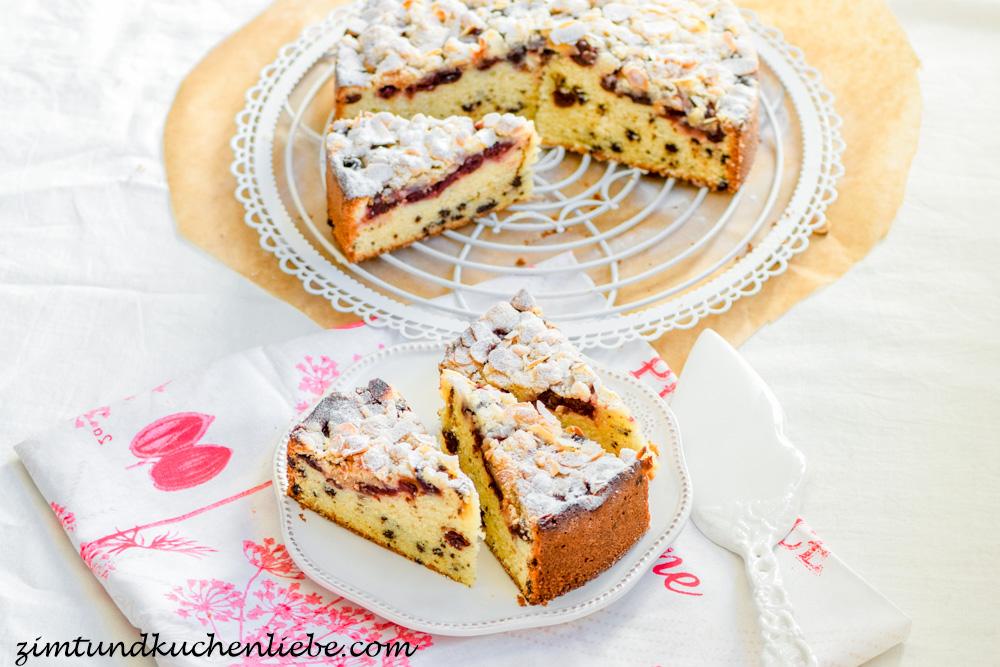 Kirschen Kuchen Mit Schokostucken Streuseln
